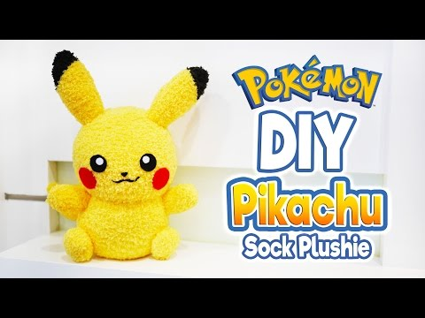 DIY Pikachu Sock Plushie with Free Pattern! Cute Pokemon Tutorial