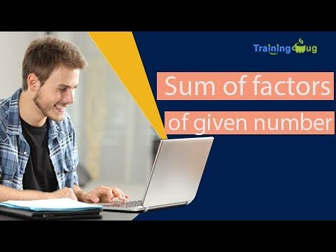 Java Code For Sum Of Factors Of a Given Number