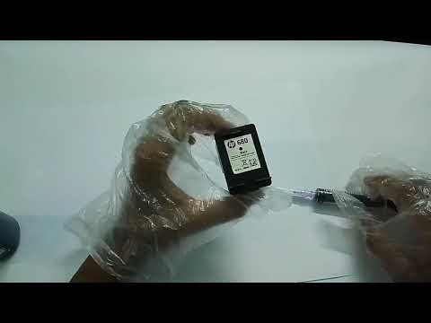 How to refill HP 680 black ink cartridge