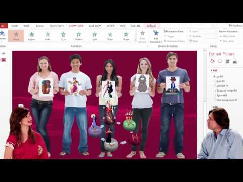 PowerPoint Learn Microsoft PowerPoint  Insert Dancing Figures & Pics Using Gif File In Your Presenta