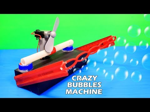 HOW TO MAKE A VERY POWERFUL BUBBLE MACHINE - DC MOTOR LIFE HACKS