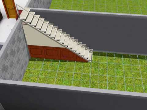 Sims 3 stair walls