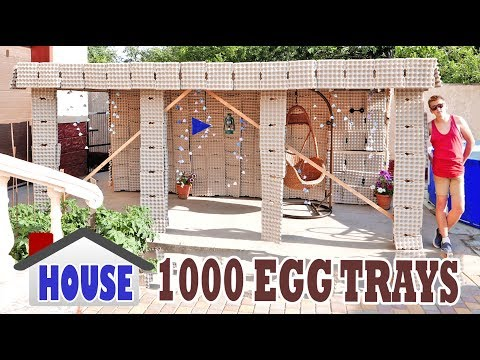 HOUSE FROM EGG TRAYS - DIY