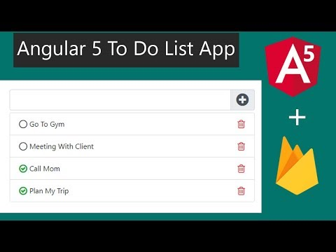 Angular 5 To Do List App Within 30 minutes