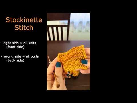 Stockinette vs Garter stitch