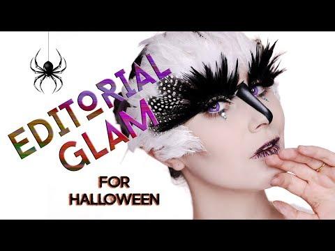 Pretty & Glam Halloween Makeup - Editorial Bird   Karima McKimmie