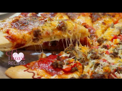 Homemade Pizza made from scratch : dough & sauce - I Heart Recipes