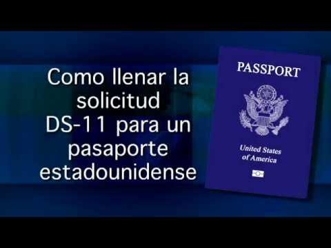 Como llenar la solicitud DS-11 para un pasaporte estadounidense
