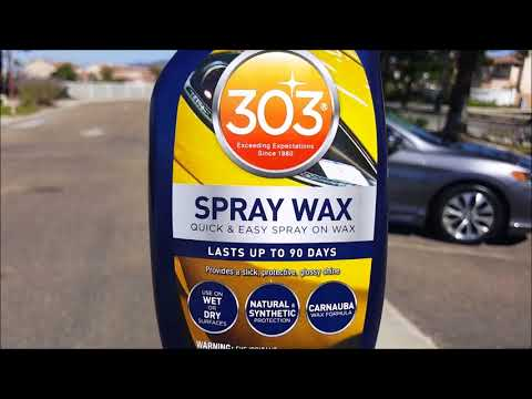 [Review and Demo] 303 Spray Wax- New 2017 Formula - No Streak