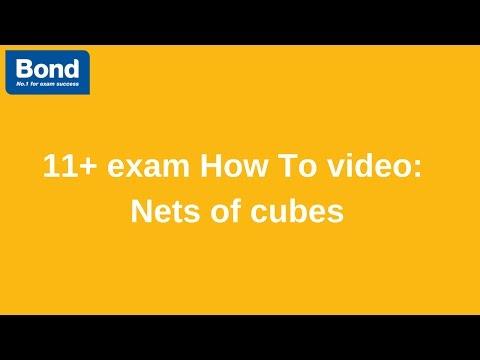 11+ exam: Non-verbal Reasoning – nets of cubes   Bond 11+