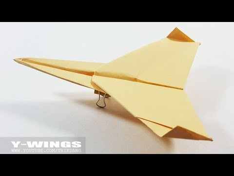 SIMPLE PAPER AIRPLANE for Kids - How to Make a Paper Airplane That Flies | Y-Wings