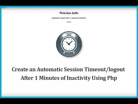 Create an Automatic Session Timeout/logout After 1 Minutes of Inactivity Using PHP