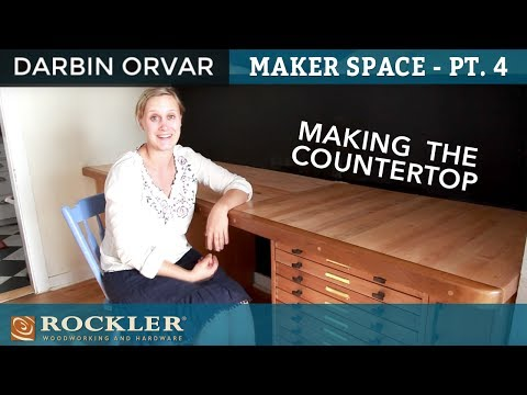 Maker Space - Pt 4: Countertop Made From Rough Sawn Lumber | Darbin Orvar Projects