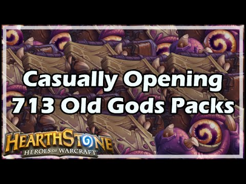 [Hearthstone] Casually Opening 713 Old Gods Packs