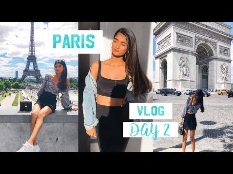 PARIS VLOG DAY 2 - EIFFEL TOWER & SHOPPING (best day ever) | Kim Mann