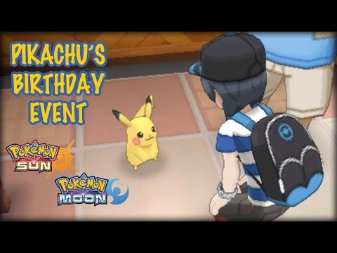 Pikachu's Birthday Event - Pokemon Sun Moon Demo