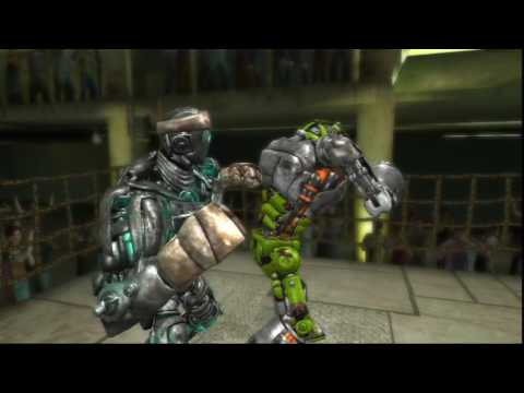 Real steel-ATOM vs New robot SCRAPBOT(ЖИВАЯ СТАЛЬ)PS3/XBOX360