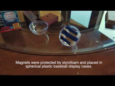 Boyd Bushman's reduction of mass gravity with opposing neodymium magnets - experiment