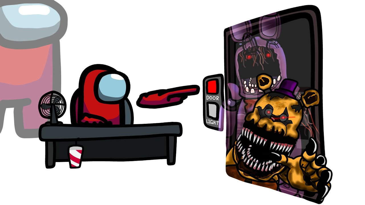 Mini Crewmate Kills Five Nights at Freddy's Characters   Among Us
