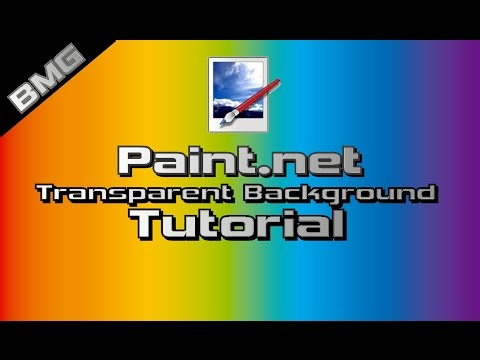 Paint.net - How to make an image have a transparent background