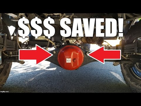 Avoid the Stealership: Rear Differential Oil Change in a 2014 Toyota Tacoma 4x4