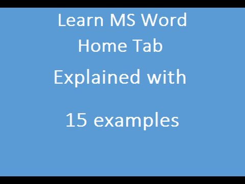MS Word Home Tab Explained 15 examples In Hindi