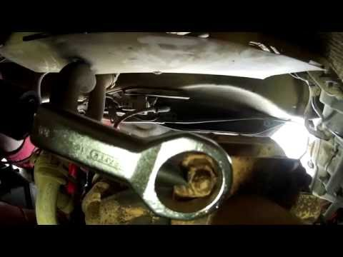 How to remove rusted nuts from an exhaust manifold with out wringing studs