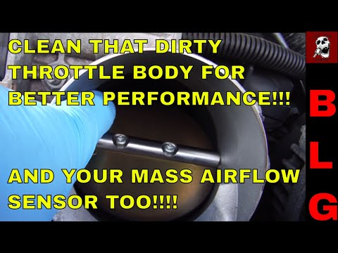 Cleaning the Throttle Body and MAF on an LS engine