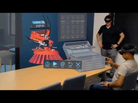 Training using Holograms  | Sweeper Truck Operation and Maintenance using AR and VR