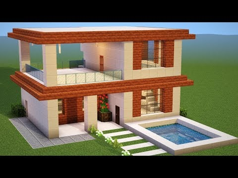 Minecraft: How to Build a Modern House - Tutorial (#11) 2018
