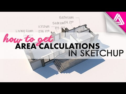 How to get Area Calculations in Sketchup