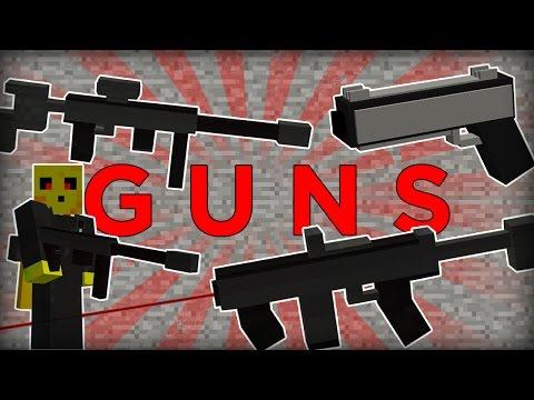Working GUNS in Minecraft one command!