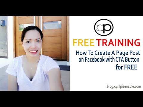 How To Create a Facebook Page Post With CTA Button For FREE