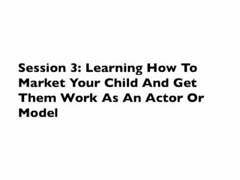 Child Acting And Modeling - How To Model