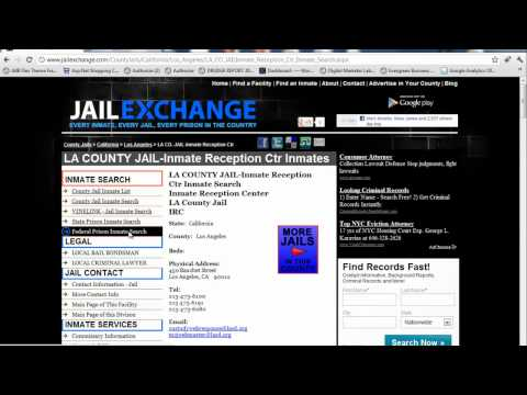 Who is in Jail? Every County Jail Inmate Search