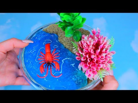 DIY How To Make Kinetic Sand + Clay Slime Beach and Galaxy Space Clay Slime Learn The Recipe