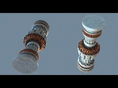 3D Sketch : Decor pillar -  ZBrush, 3DSMax