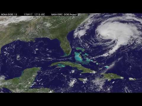 Furacão José perto das Carolinas - Satellite Animation Shows Hurricane Jose Near the Carolinas