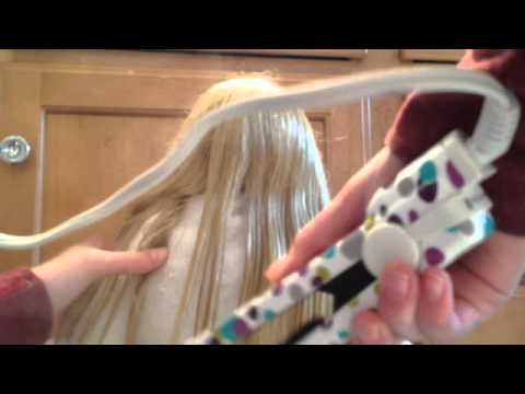 How To Straighten and Curl Your American Girl Doll's Hair