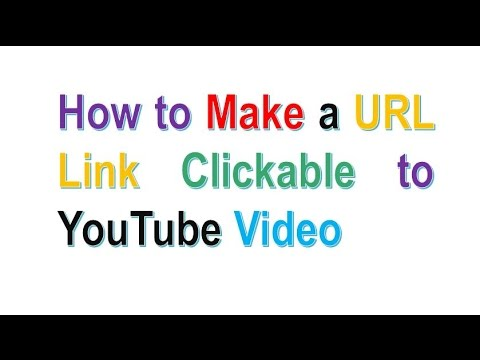 How to Add Clickable URL Link to YouTube Video | How to Make a Link Clickable