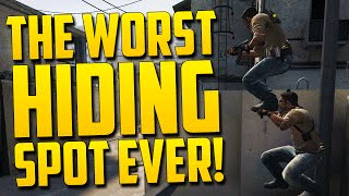 WORST HIDING SPOT! - CS GO Funny Moments in Competitive