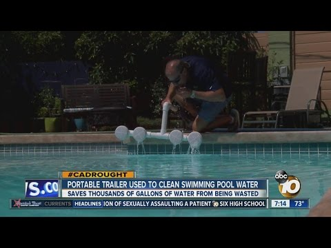 Machine used to clean pool water without draining pool