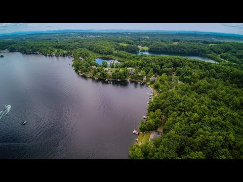 GLEN LAKE NY   360 VIEW OF SOUTHWEST END OF LAKE