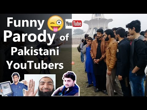 Pakistani YouTubers Funny Parody in Lahore Meetup || Funny Moments   Must Watch 😁