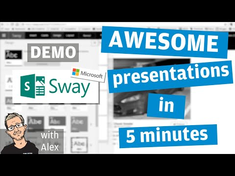 Awesome presentations in 10 mins with Sway - Powerpoint is dead!