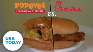 Popeyes vs Chick-fil-A: Southerners do a blind chicken sandwich taste-test | USA TODAY