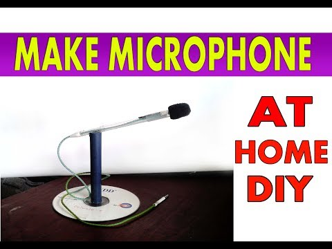 How to make Mini Microphone with stand- DIY HD Microphone