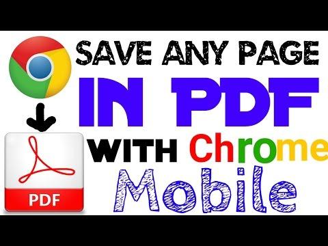 CHROME WEBPAGE TO PDF - How to save any Google chrome mobile page to PDF | Hindi