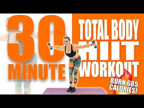 30 Minute Total Body HIIT Workout with Dumbbells 🔥Burn 685 Calories! 🔥