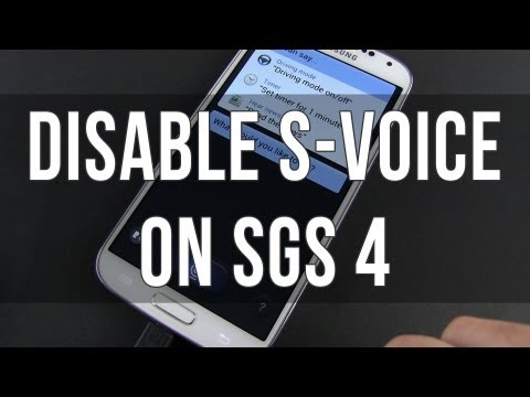 Samsung Galaxy 4: how to disable S Voice and speed up the Home button